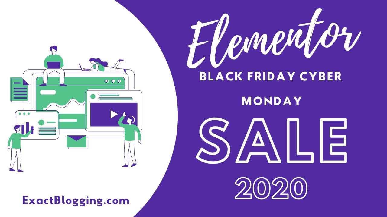 Elementor Black Friday Cyber Monday 2020 Sale
