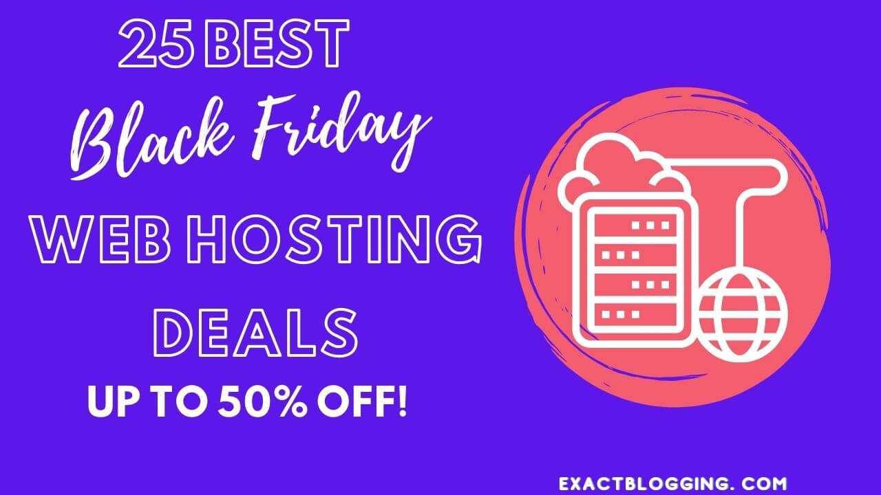 25 Best Black Friday Web Hosting Deals 2020