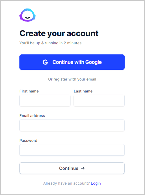 jarvis ai trial step 2 fill name and email address